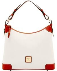 Dooney & Bourke Pebble Grain Hobo - White