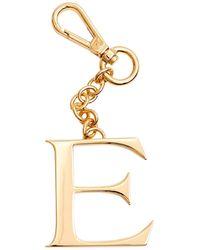 Dooney & Bourke Monogram Pendant Key Chain Letter E - Metallic