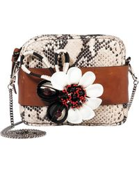 Dorothee Schumacher - Floral Attraction Small Embroidered Bag With Removable Chain - Lyst