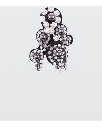 Dorothee Schumacher Rock Glam Felt Embroidery Brooch - White