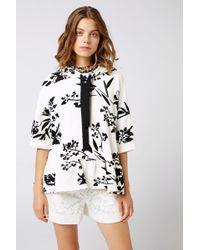 Dorothee Schumacher - Graphic Bloom Hoodie Sweatshirt 1/2 - Lyst