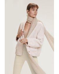 Dorothee Schumacher Twist On Shearling Jacket - Multicolor