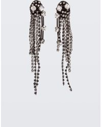 Dorothee Schumacher - Sparkle Addition Fringed Bead Clip-on Earrings - Lyst