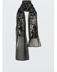Dorothee Schumacher | Stripe Deluxe Sequin Embellished Scarf | Lyst