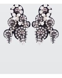 Dorothee Schumacher - Rock Glam Embroidery Clip Earrings - Lyst