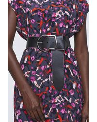 Dorothee Schumacher Touch Of Color Painted Edge Wide Belt 6cm - Purple