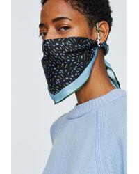 Dorothee Schumacher Silky Kiss Foulard Mask - Blue