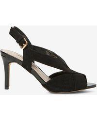113c6d63a05b1d Lyst - Dorothy Perkins Black  sundae  Low Heel Sandal in Black
