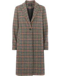 Dorothy Perkins Multi Colour Checked Coat - Multicolour