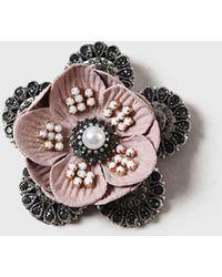 Dorothy Perkins - Rhinestone Flower Broach - Lyst