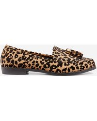 Dorothy Perkins Wide Fit Leopard Print 'lille' Loafers - Brown