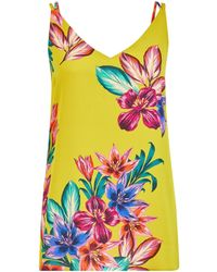 Dorothy Perkins Lime Tropical Print Camisole Top - Green