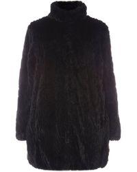 Dorothy Perkins - Dp Curve Black Longline Faux Fur Coat - Lyst