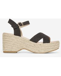 Dorothy Perkins Black 'rumba' Flatform Wedge Sandals, Black