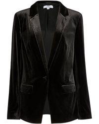 Dorothy Perkins Tall Black Velvet Blazer