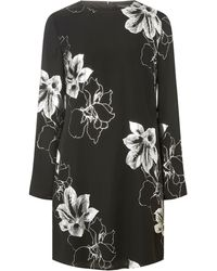 Dorothy Perkins Black Foil Print Shift Dress, Black
