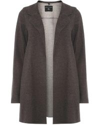 Dorothy Perkins - Charcoal Knitted Coat - Lyst