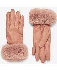 Dorothy Perkins - Blush Faux Fur Trim Gloves - Lyst
