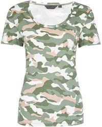 Dorothy Perkins Khaki Organic Cotton Trees For Cities Camouflage Print Scoop T-shirt, Khaki - Green
