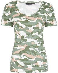 Dorothy Perkins Trees For Cities Khaki Camouflage Print Scoop T-shirt