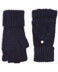 Dorothy Perkins - Navy Fingerless Gloves - Lyst