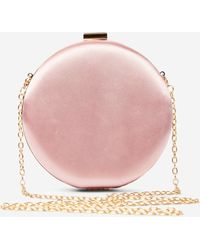 Dorothy Perkins Rose Round Box Clutch Bag - Pink