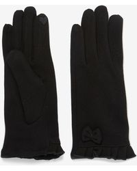 Dorothy Perkins Black Jersey Bow Gloves