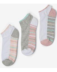 Dorothy Perkins - 3 Pack Multi Colour Striped Trainer Socks - Lyst