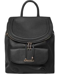 Dorothy Perkins Black Foldover Backpack