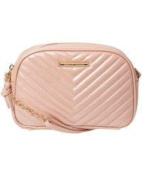 Womens Patent Camera Shoulder Bag, Pink (Blush) Dorothy Perkins