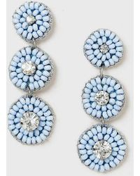 Dorothy Perkins - Blue Beaded Drop Earrings - Lyst