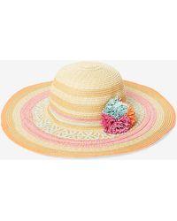 Dorothy Perkins - Coloured Raffia Pom Hat - Lyst