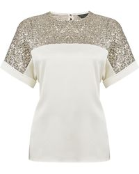 Dorothy Perkins Champagne Batwing Top - White