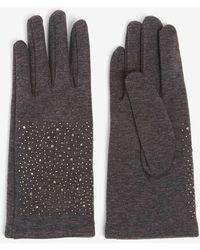 Dorothy Perkins - Charcoal Hotfix Glove - Lyst