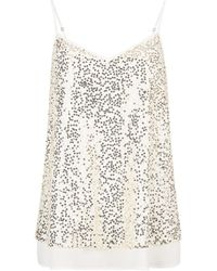 Dorothy Perkins Ivory Lace Sequin Camisole Top, Ivory - White