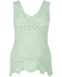 Dorothy Perkins Mint Guipure Lace Vest - Green