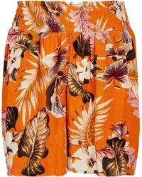 Dorothy Perkins Orange Floral Print Crinkle Shorts