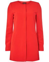 Dorothy Perkins - Only Red Formal Coat - Lyst