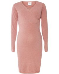 Dorothy Perkins - Mamalicious Maternity Blush Wrap Jumper Dress - Lyst
