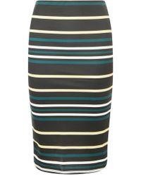 Dorothy Perkins - Black Striped Pencil Skirt - Lyst