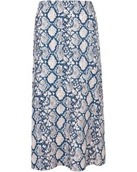 Dorothy Perkins Petite Blue Snake Print Skirt