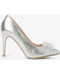 Dorothy Perkins - Silver 'geneva' Icicle Court Shoes - Lyst