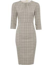 Dorothy Perkins Petite Damen Black Checked Dress Kleid