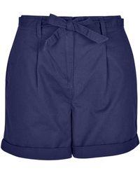 Dorothy Perkins Navy Chino Shorts - Blue