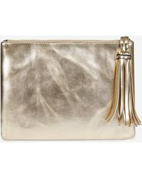 Dorothy Perkins Gold Tassel Clutch Bag - Metallic
