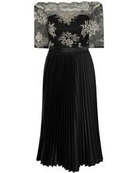 Dorothy Perkins Chi Chi London Black And Gold Embroidered Midi Dress