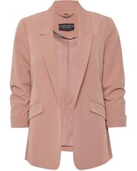 Dorothy Perkins Blush Ruched Sleeve Jacket - Pink