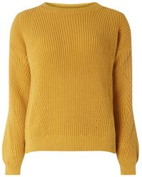 Dorothy Perkins - Yellow Stitch Detail Jumper - Lyst