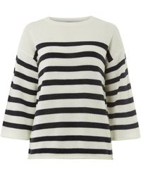 Dorothy Perkins - Tall White And Navy Kimono Jumper - Lyst