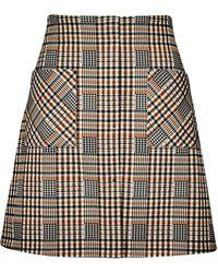 Dorothy Perkins Multi Color Check Print Mini Skirt - Multicolor